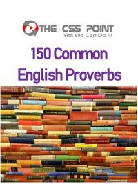 150 Common English Proverbs