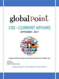 Monthly Global Point Current Affairs September 2017
