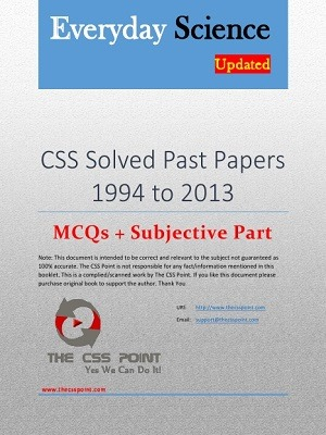 CSS Everyday Science Solved Past Papers – 1994 to 2013