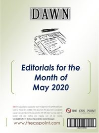Monthly DAWN Editorials May 2020