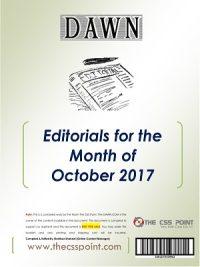 Monthly DAWN Editorials October 2017