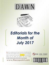 Monthly DAWN Editorials July 2017