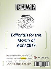 Monthly DAWN Editorials – April 2017