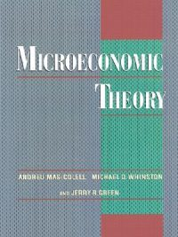 Microeconomic Theory By Andreu Mas-Colell With Key