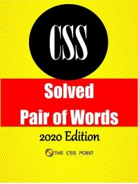 Solved CSS Pair of Words