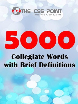 5000 Collegiate Words with Brief Definitions