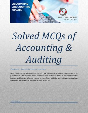 Accounting & Auditing Solved MCQs