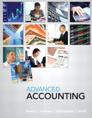 Advanced Accounting 11th Ed By Beams & Anthony
