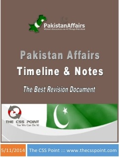 Pakistan Affairs Timeline and Notes