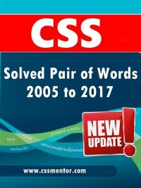 CSS Solved Pair of Words from 2005 to 2017 Updated