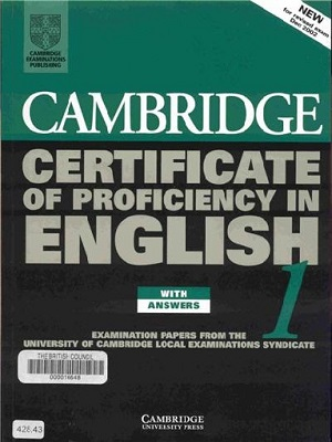 Cambridge Certificate Of Proficiency English