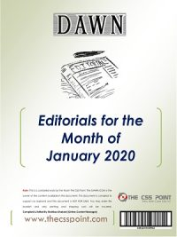 Monthly DAWN Editorials January 2020