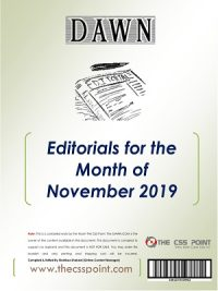 Monthly DAWN Editorials November 2019