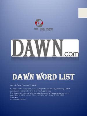 Important DAWN Word's List