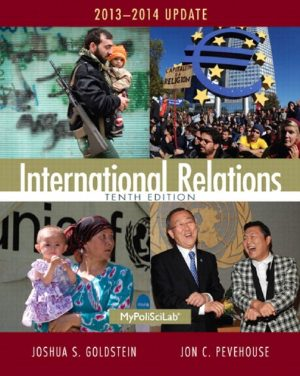 International Relations 10th Edition By Joshua S Goldstein