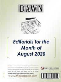 Monthly DAWN Editorials August 2020