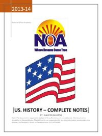 History of USA Complete Notes By NOA