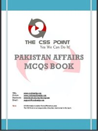 Pakistan Affairs MCQs Book