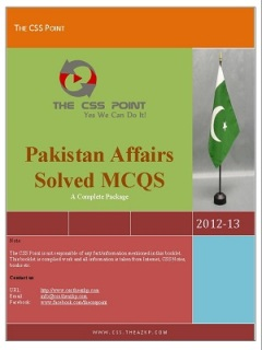 Pakistan Affairs Complete Notes By VU