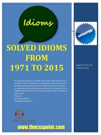 Solved Idioms from 1971 to 2015