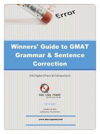 Winner's Guide to GMAT Grammar & Sentence Correction