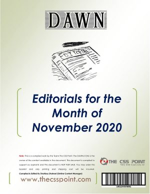 Monthly DAWN Editorials November 2020