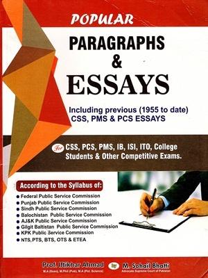 Popular Paragraphs & Essays By M. Sohail Bhatti Bhatti Sons