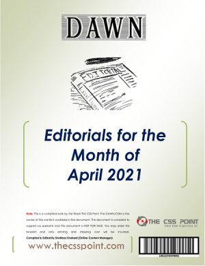 Monthly DAWN Editorials April 2021